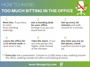 too much sitting