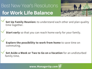 New Year's Resolutions Work life balance